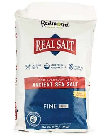Real Salt Fine Bag 25 lb