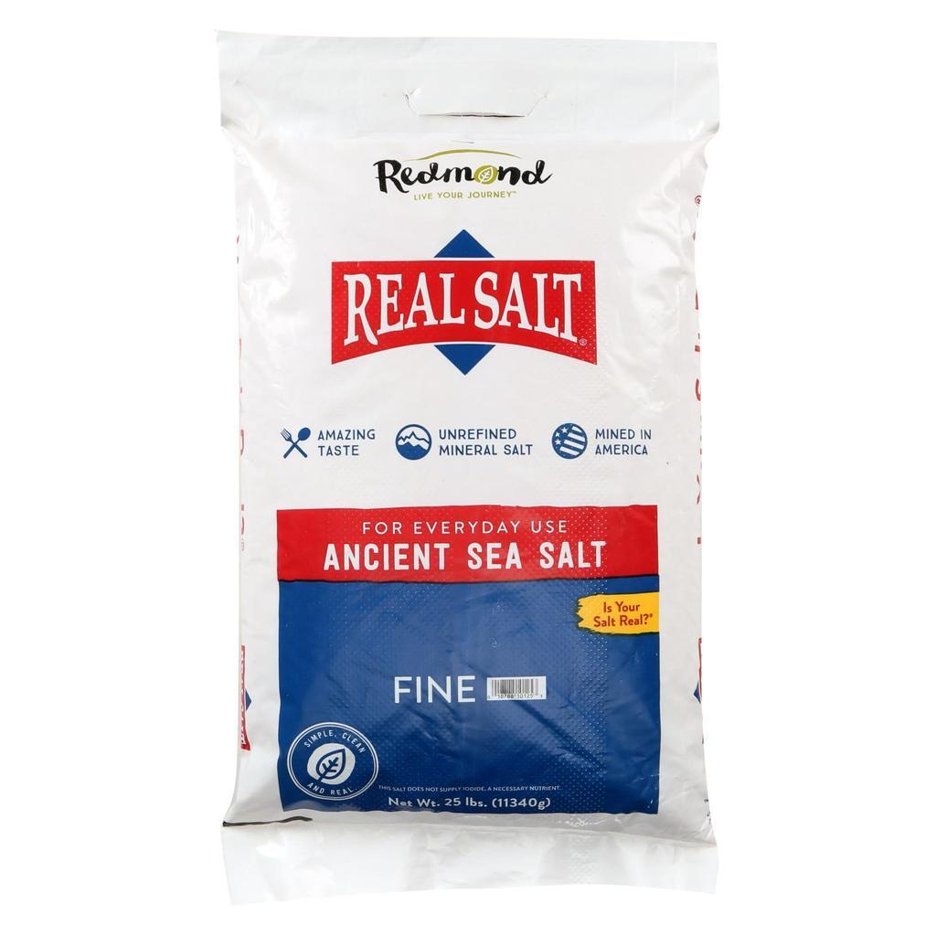 Real Salt Fine Bag 25 lbs